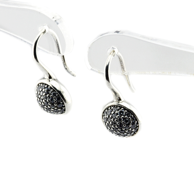 Compatible with European-style Jewelry Dazzling Droplets Clear CZ 100% 925 Sterling Silver earrings DIY for women jewelry