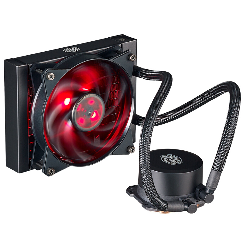 Cooler Master B120 CPU Liquid Cooler 120mm Red LED quiet fan For AMD AM4 Intel CPU Water cooling fan cooler liquid radiator gpu cpu fan water liquid cooling system mute copper aluminum cooler base graphics card water cooling radiator for intel amd