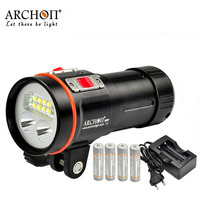 100% Original ARCHON D37VP flashlight 100M Underwater Diving Light Flashlight Torch XM L 5200 Lumens WITH Battery and charger