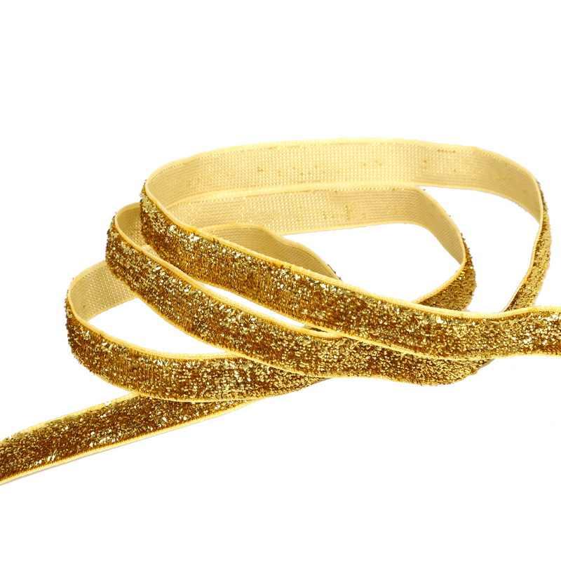 5 ярдов 10 мм сверкающая блестка бархатная лента серебро/золото кружевная лента для рукоделия/шитья DIY ручной работы свадебные украшения материалы