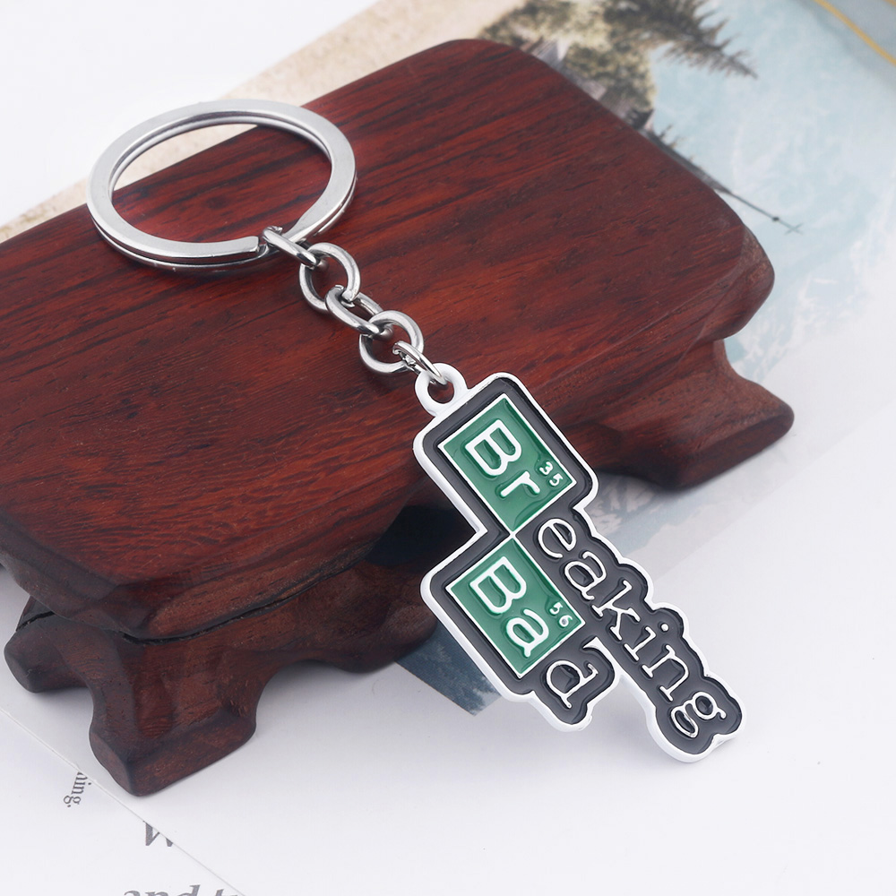 TV Breaking Bad Keychain Letter Logo Key Chain For Women Men Car Keyring Chaveiro Jewelry Christmas Gift
