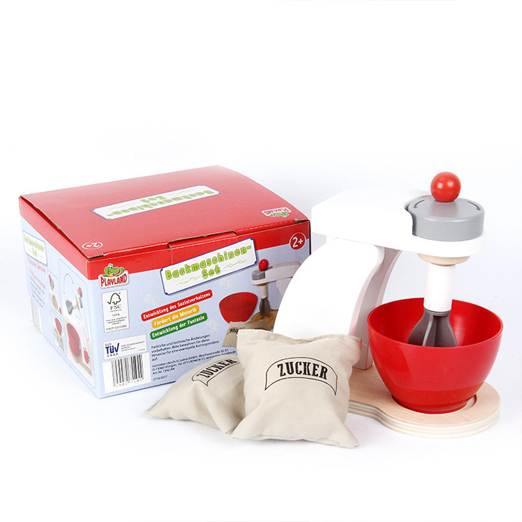 Children s imitation wooden bread machine coffee machine pancake mixer and kitchen toys