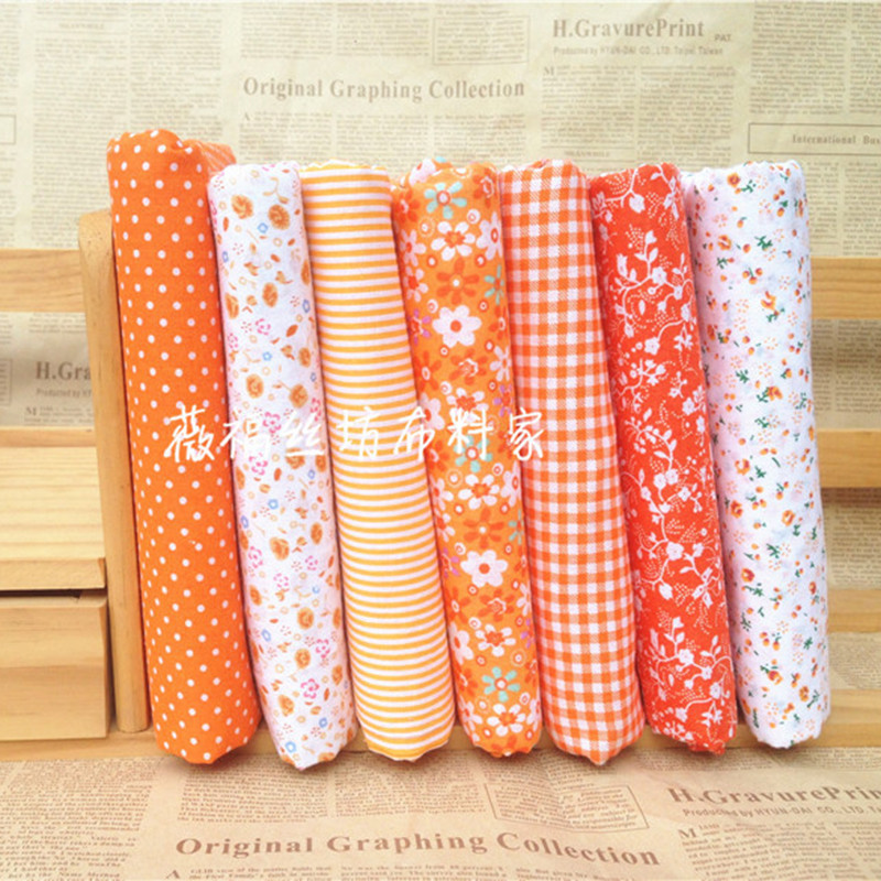 7pcs set 100 Cotton Fabric for Sewing DIY Quilting Patchwork Tissue Kids Bedding Textile Tilda Doll Cloth Fabric YYJ0 in Fabric from Home Garden