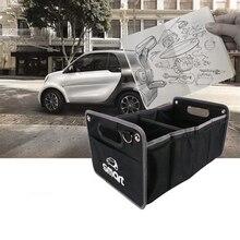 Smart Fortwo ForFour логотип складной черный ящик для хранения сумка ткань Оксфорд Органайзер автомобиль-Стайлинг авто аксессуары сетка в багажнике