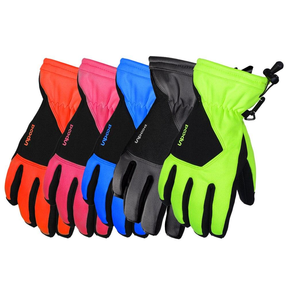 BOODUN/Boton hommes femmes modèles cinq couleurs gants de ski PU anti-dérapant imperméable hiver chaud gants de ski