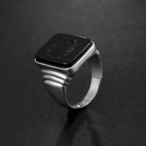 Image 3 - Qualidade superior leonardo dicaprio anel o grande gatsby preto onyx anéis para homem amor jóias atacado