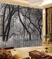 3D Vorhang Mode Maßgeschneiderte Wald Grau Vorhänge Blau Vorhang Hause Schlafzimmer Dekoration Blackout Schatten Fenster Vorhänge-in Vorhänge aus Heim und Garten bei