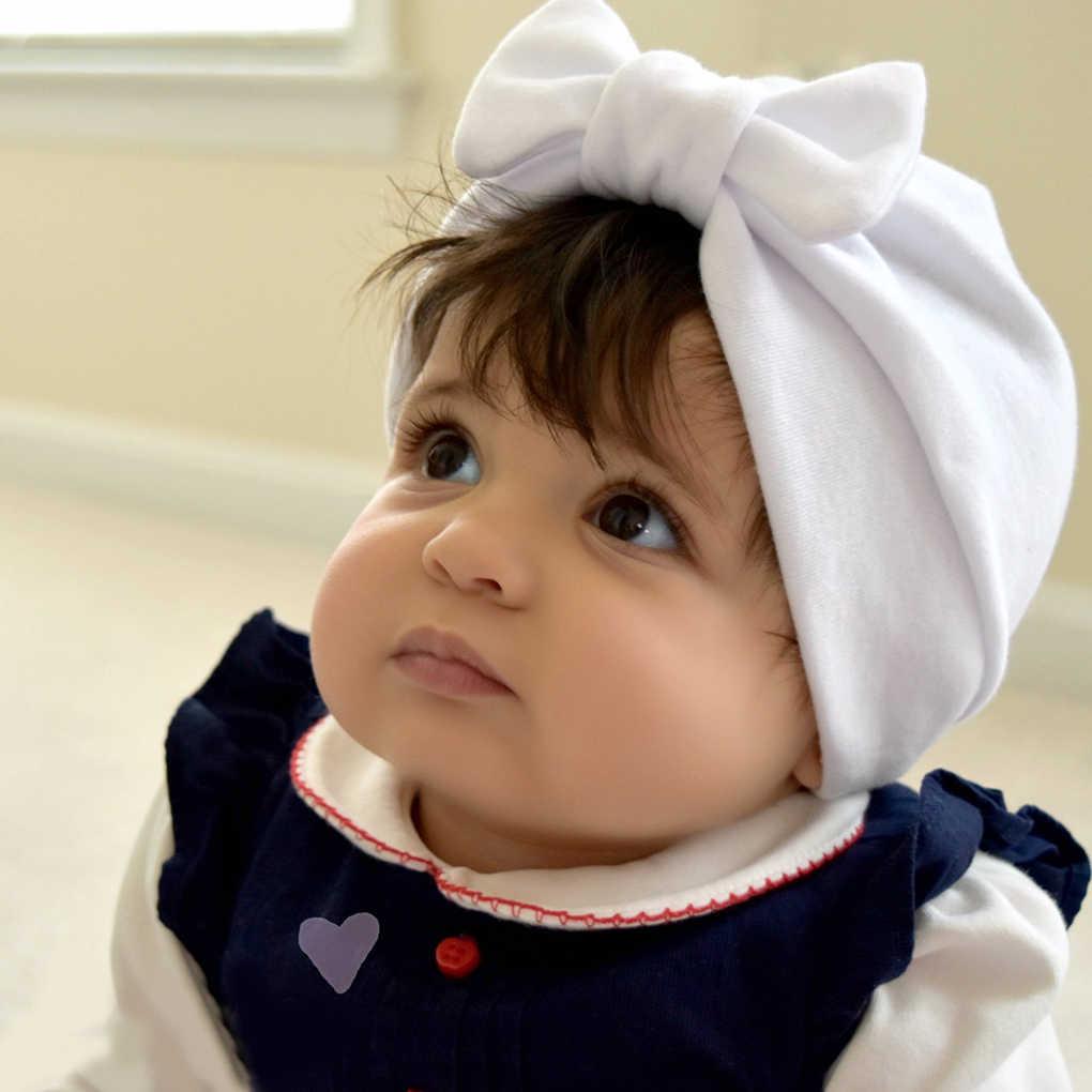 เด็กสาวเด็กชายหมวกเด็กวัยหัดเดิน Crochet ถักหมวก Bowknot Beanie หมวกฤดูหนาวทารกแรกเกิดทารกเสื้อผ้าเด็กทารก