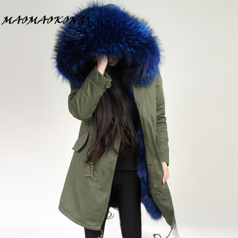 winter jacket brand style silver army green Large raccoon fur collar coat parkas outwear long detachable fox fur lining Hooded zoe saldana 2017 winter jacket women detachable lining natural large fur hooded army green cotton coat outwear thick warm parkas