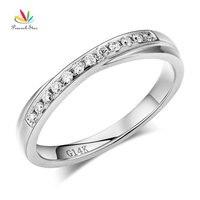 Peacock Star Matching 14K White Gold Women Wedding Band Ring 0 14 Ct Diamonds