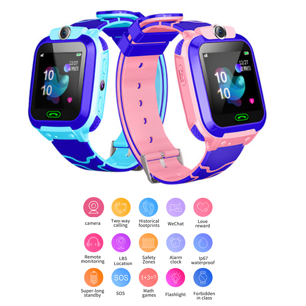Q12B Smart Watch For Children Kids Baby Phone 2G Sim Dail Call Touch Screen Waterproof S0S SIM Clock Smartwatches
