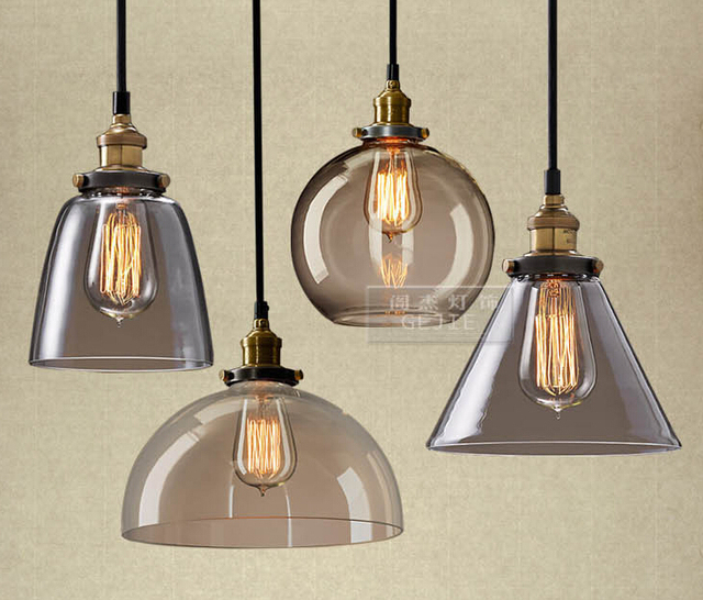 Simple Glass Chandelier Retro Style Restaurant Research Bedroom Attic Bar Table Lamp Gy167
