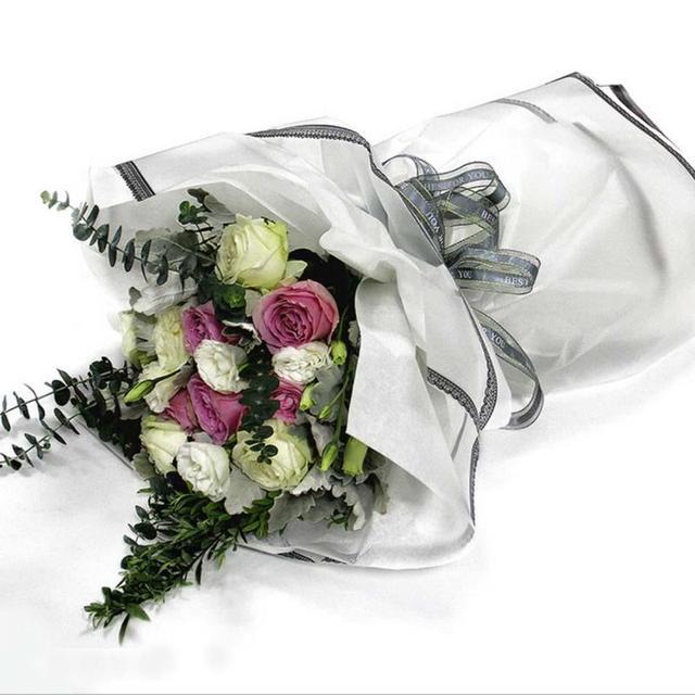 20pcs Edge Lace Flowers Bouquets waterproof Packaging Lace Paper ...