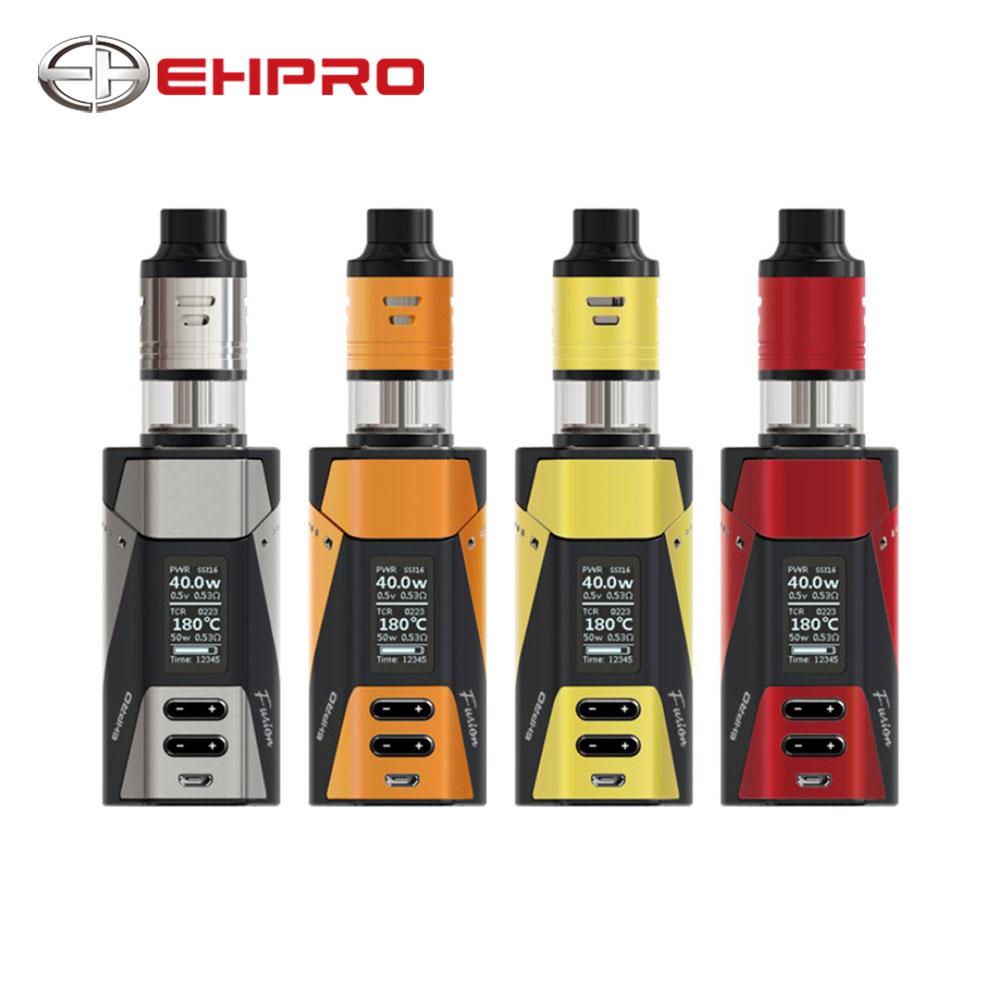 NEW Ehpro 2-in-1 Fusion 150W TC Kit w/ Ehpro Fusion Box Mod & Fusion Tank Dual Post Build Deck No Battery Vape Kit Vs RAVAGE230 ehpro armor prime mod