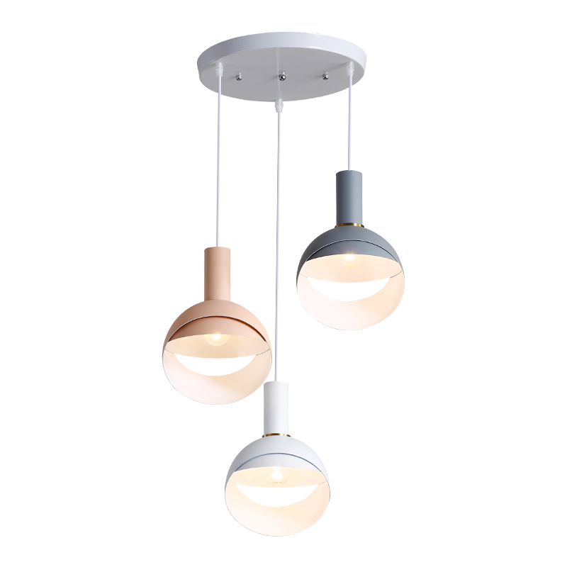 Nordic post modern pendant lights for dining room foyer bedroom lovely colorful macaron pendant lamps LED E27 lighting fixture motorcycle cnc engine guard stator protective plug clutch protect slider cover right