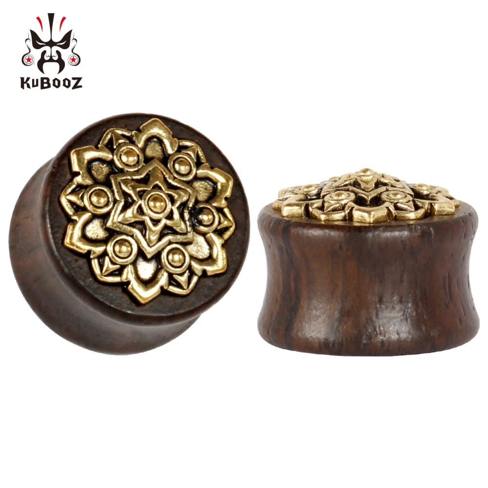 Купить kubooz ювелирное изделие для пирсинга из дерева металла золота