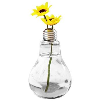Hanging Ecological Light Bulb Vase Green Plant Water Glass Bottle Transparent Bulb Shaped Vase Living Room Decoration Miniature glass bottle
