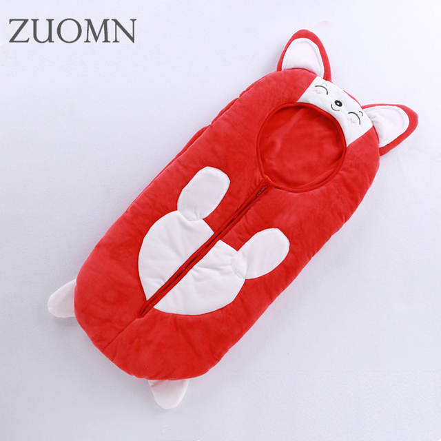 Baby winter sleeping bag children girls boys sleepingbag sleeves velvet sleepsack BB wrap bedding cute baby sleepingbags YL346
