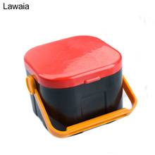Lawaia Fishing Tackle Boxes Red Worm Live Bait Silkworm Box Baits Moisturizing Gear Gadget Tools