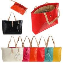 Estilo coreano Mulheres de Couro PU Bolsas Das Senhoras Quadrados Sacos de Ombro bolsa Mensageiro Grande Tote Bolsa Feminina oferta especial