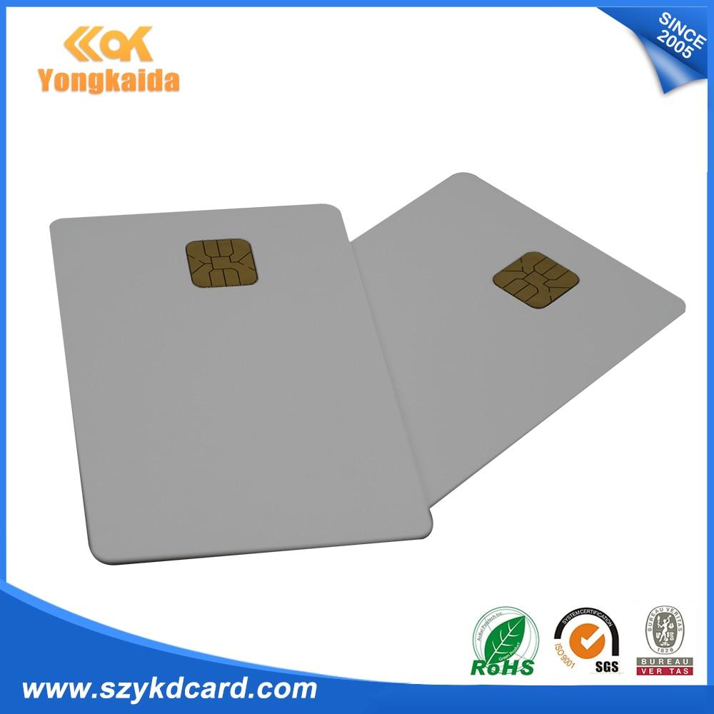 Белый Бланк для распечатки iso7816 AT24C16 записи чтения Контактная смарт карта