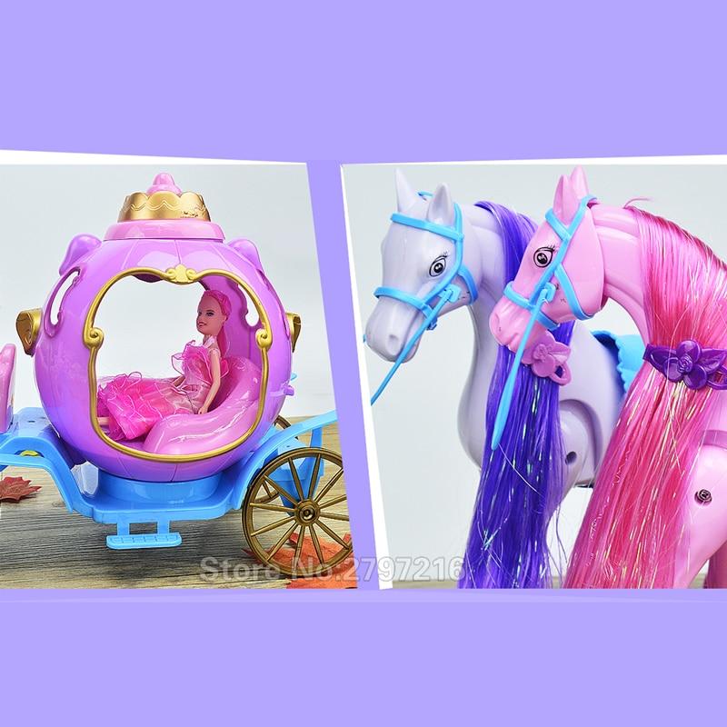53cm nouvelle fille poupée jouets électrique calèche anniversaires fille cadeaux pour enfants jouets pour enfants - 4