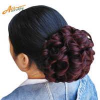 Allaosify femmes Chignon en plastique peigne Extension de cheveux postiche perruque Clip en gros cheveux Chignon griffes pin couronne tiare cheveux accessoires