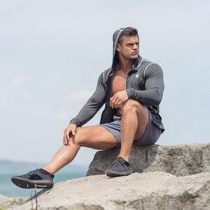 Image 5 - גברים פיתוח גוף הסווטשרט חדרי כושר כושר הדוק רוכסן סווטשירט איש סתיו חדש מקרית סלעית מעיל זכר Jogger אימון בגדים
