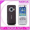 Reformado desbloqueado nokia n73 teléfono móvil gsm 3g bluetooth 3.15mp cámara fm radio reproductor mp3 envío gratis
