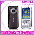 Refurbished Unlocked Nokia N73 Mobile Phone GSM 3G Bluetooth 3.15MP camera FM radio MP3 player Free Shipping