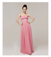 Free transport,tube high slim pleated strapless ground size ladies night gown (lips)