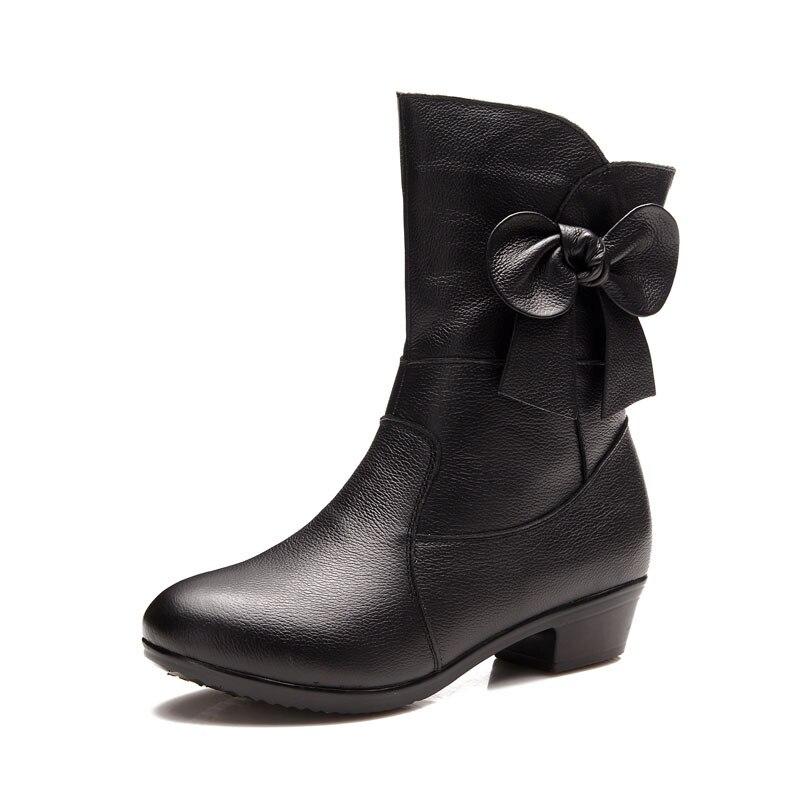 DONGNANFENG/Женская обувь в старом стиле; женская обувь с цветочным узором; плюшевые меховые зимние теплые ботинки до середины икры из натурально...
