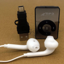 mirror Mini Clip MP3 Without Screen Smart Card Plugin Sports Leisure Perfect Sound Music Player Portable MP3 music  Player
