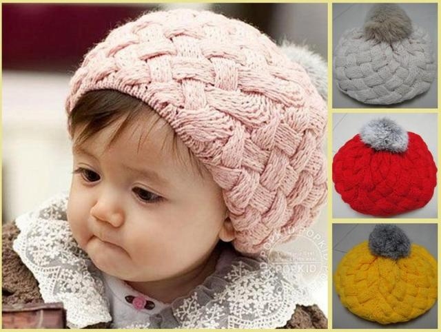 2016 winter baby hat kids props beanie faux warm rabbit fur gorros ...