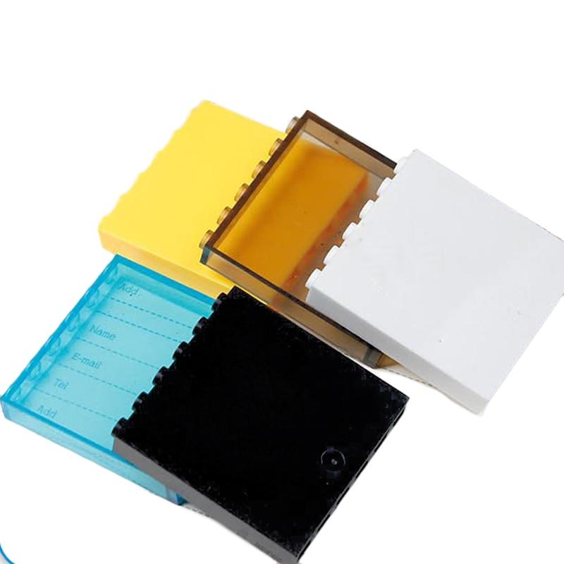 8Pcs/lot Transparent Window Frame 1x6x5 Blocks Parts MOC Brick House DIY Toys Compatible With 59350/59349 Mini City Parts Toys