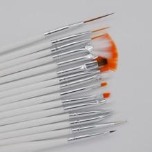 15 Pcs Nail Art Design Brush Set, UV Gel Set Painting Draw Pen White Handle Brush Tips Tool + Free Shipping