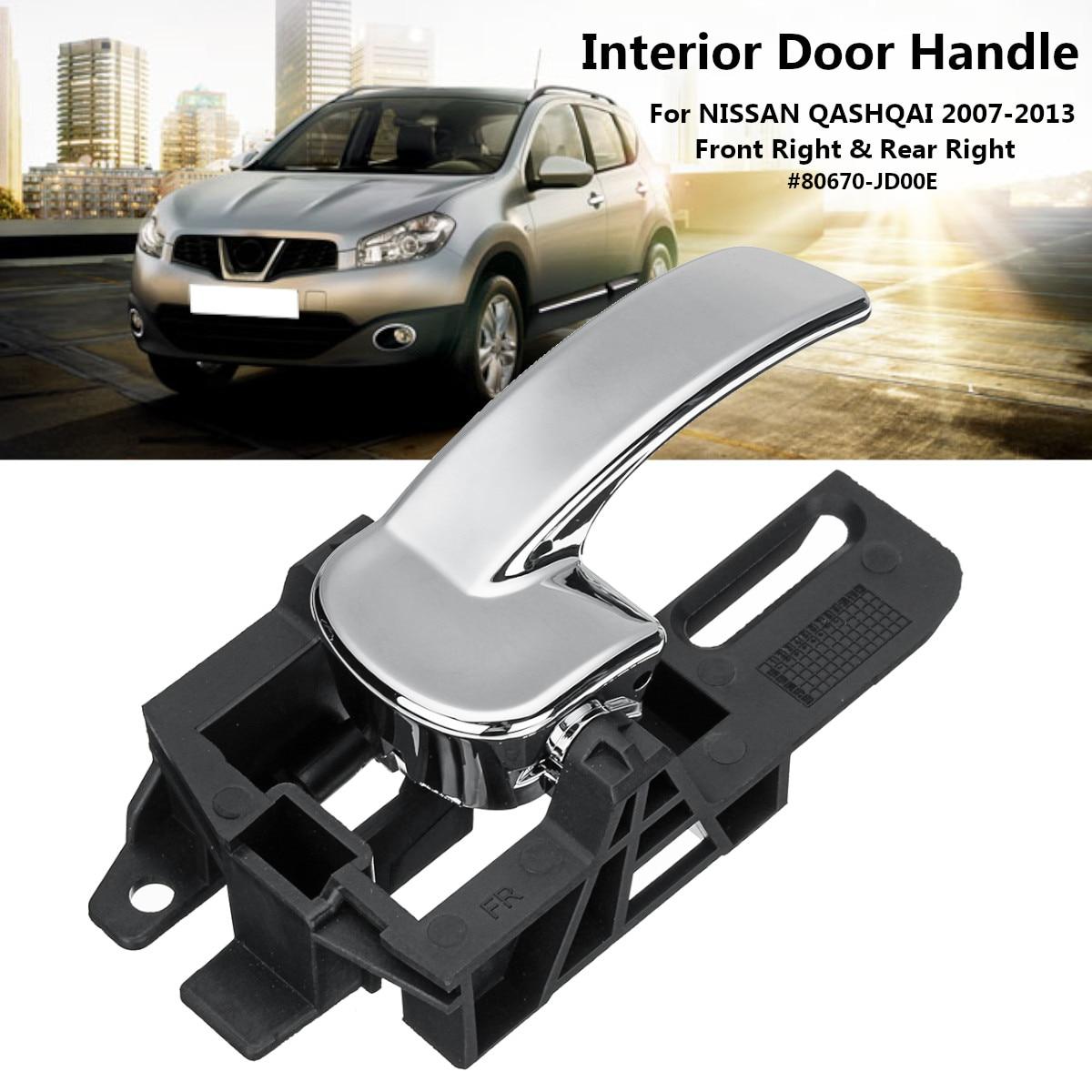 Left+Right Car Interior Door Handle For NISSAN QASHQAI 2007-2013 80670-JD00E / 80670JD00E 80671-JD00E хромовые накладки для авто for nissan qashqai 2007 2013 nissan qashqai 2007 2013