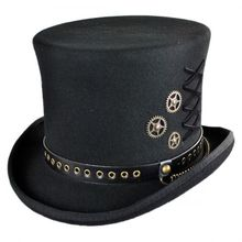 Unisex Steampunk Hat Steam Punk   Fedoras Top Hat  Topper