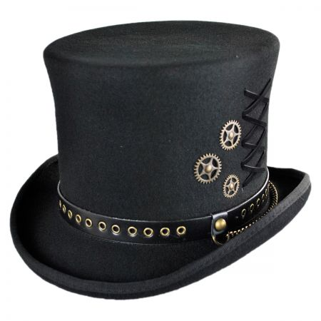 Unisexe Steampunk chapeau vapeur Punk Fedoras chapeau haut-de-forme Topper