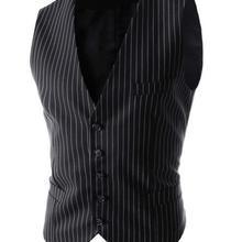 Мужской жилет с капюшоном хорошего качества, британский стиль, в полоску, приталенный, Chaleco Hombre, мужской жилет, однобортный, Повседневный, безрукавка жилет для мужчин