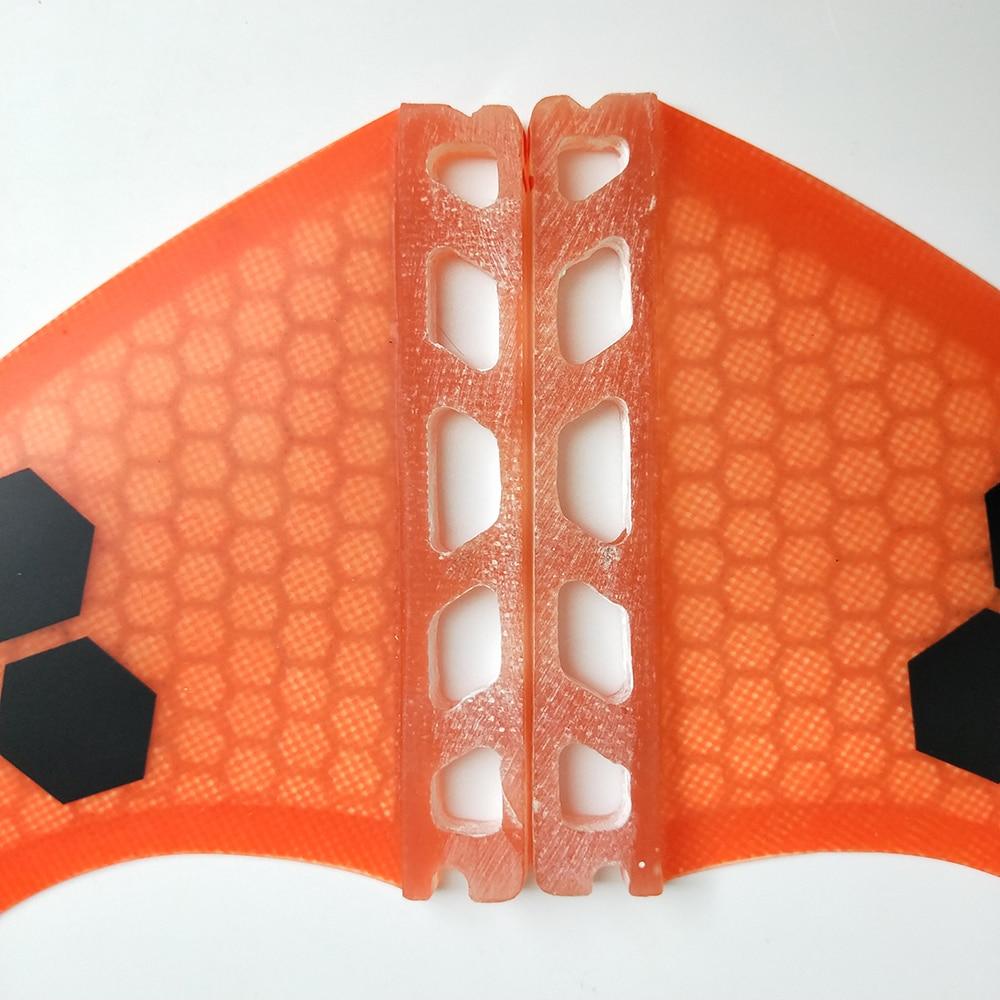 Future Quad Fins Orang / Blue Honeycomb Fin Surfboard Future Fins G5 - Су спорт түрлері - фото 4
