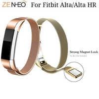 Pulsera de acero Withings para Fitbit Alta HR/Alta correa de reloj milanesa ajustable imán bucle relojes correa de Alta calidad