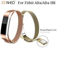Withings стальной браслет Для Fitbit Alta hr/часы Alta ремешок Миланский Браслет Регулируемый Магнит петля часы ремешок высокого качества