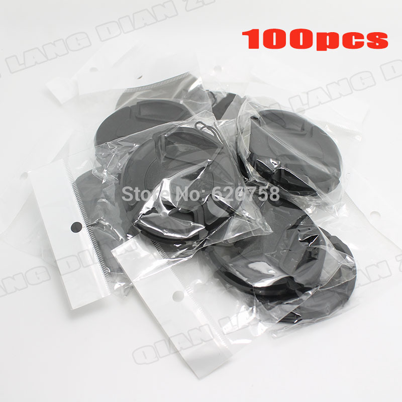 100pcs/lot 49mm Center Pinch Snap-on Front Lens Cap cover for Camera Lens + free tracking number цена