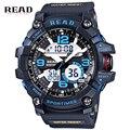 Homens Marca de topo Relógios Desportivos Analógico Display LED Eletrônico Relógio Militar de Quartzo relógios de Pulso À Prova D' Água de Natação