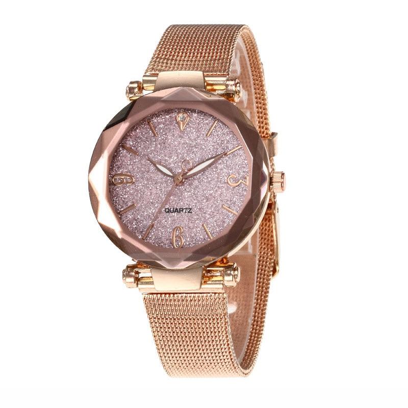 Mdnen Fashion Women Watch Alloy Watchbrand Luxury Dial Starry Sky Wrist Watch Relogio Feminino Clock Gift For Ladies