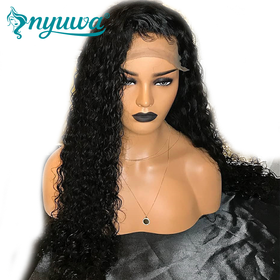 Pre Plucked Glueless Full Lace Human Hair Wigs With Baby Hair Bleached Knots Natural Hairline NYUWA Brazilian Remy Hair Lace wig