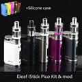 Original eleaf istick kit com 75 w mod de pico + 1 pc capa de silicone para o pico da istick 75 w mod kit de cigarro eletrônico