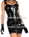 Envío gratis Sexy Lingerie Magnífico PVC Corset Vestido Del Club AM45 Tamaño S-XXL