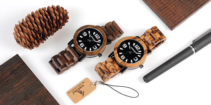 bobo bird men's  wooden watches luxury fashion men watch